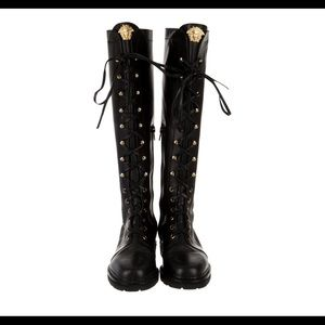 GIANNI VERSACE  knee-high Combat Boots size 39